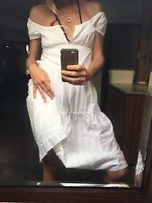 Early Vintage Lee Mathews White Lace Amish Farm Girl Dress 100% Cotton 2 8-10