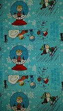 Charlie Brown Christmas fabric Peanuts Snoopy cotton quilt sewing material BTY