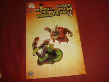 MONKEY ON A WAGON Vs LEMUR ON A BIG WHEEL #1 Alias Comics - NM