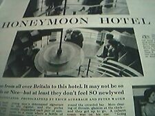 newspaper cutting 1956 honeymoon hotel peter pickerings 2 page