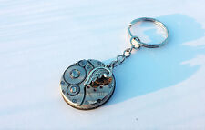 """Watch Movement Keyring with """"angel wings"""""""