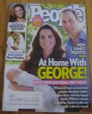 NEW PEOPLE MAGAZINE AT HOME WITH GEORGE WILL & KATE, BETHANY HAMILTON SEPT. 2013