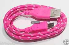 Fabric Micro USB Data Charge Sync Cable For Nokia/Blackberry/Samsung/LG/HTC