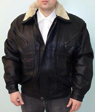 GENUINE LAMB LEATHER COAT JACKET WITH REMOVABLE COLLAR, REMOVABLE LINING SIZE L