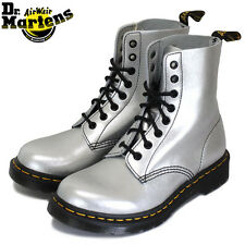 DOC DR MARTENS SILVER ALUMIX METALLIC BOOTS NEW WITH BOX UNISEX 6UK US:W8 M7
