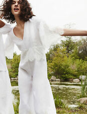ZARA OFF-WHITE LINEN JUMPSUIT WITH LACE SS16 SIZES XS & L LAST SIZES