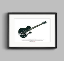 George Harrison's 1957 Gretsch Duo Jet ART POSTER A3 size