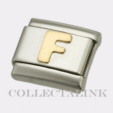 "Original Nomination Classic Gold ""F"" Charm"