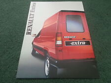 July 1986 / 1987 Model RENAULT EXTRA VAN - UK 16 PAGE COLOUR BROCHURE