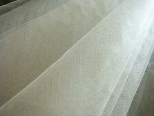 Q21 Ivory*Soft-medium Stiff *Mesh/Net Fabric Wedding Decoration Material by Yard