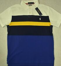 Polo Ralph Lauren Shirt Custom Fit Stripe Mesh Size L Large NWT $98