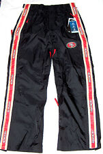 NEW SAN FRANCISCO 49ERS $120 SZ M 32-34 WATER STAIN WIND PROOF TAILGATE PANT NWT