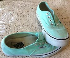 Woman's Vans Sneakers Mint Green Color Size 5