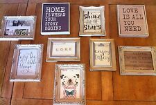 Shabby chic, rustic, rocco collection of Gallery Wall Photo Frames Set