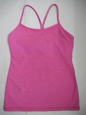 LULULEMON Power Y Tank heathered Paris Pink yoga top size 6 SOLD OUT *RARE*