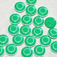 1 lot de 5 boutons vintages pop vert liseret blanc 18mm mercerie couture button