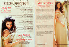 2 X MOR KARBASI DAUGHTER OF THE SPRING TOUR FLYERS - BRAND NEW