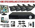 4 Channel CCTV Complete Surveillance Security Camera DVR System with Monitor