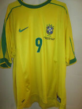 Brazil 1998-2000 World Cup Edition Ronaldo 9 Home Football Shirt xl /34078
