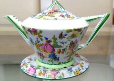 Rare 1920s Art Deco Royal Albert LADY GAY Teapot on Teapot Stand