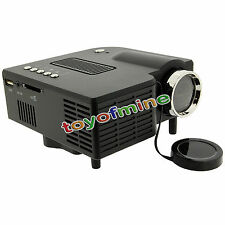 LED HD portatile Proiettore Home Cinema Theater PC SD Laptop VGA USB AV HDMI