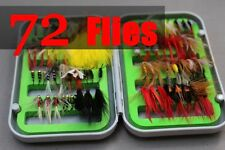 Classic 72pcs Wet Dry Fly Nymph Streamer Fishing Flies Set Assort Selections