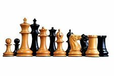 Official Staunton 1851 Staunton Antiqued Ebony Chessmen