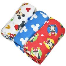 NEW DISNEY BABY MICKEY MOUSE BLUE SOFT WRAPS X 3 - GREAT GIFT 73CMS X73CMS