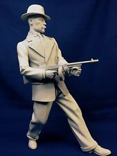 "CUSTOM 1/6 SCALE RESIN KIT / 1930'S GANGSTER WITH TOMMY GUN ""PUBLIC ENEMY"""