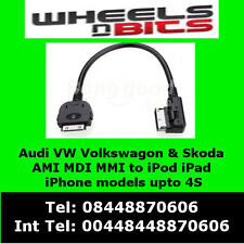 VW MEDIA IN IPOD IPHONE CABLE SCIROCCO GOLF POLO RCD 310 510 ADAPTER INTERFACE