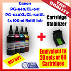 Canon PG-640 PG-640XL / CL-641 CL-641XL Refill Ink 4x100ml MG2160 MG3160 MG4160
