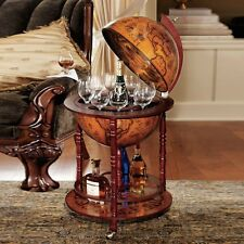 Elegant Solid Wood Globe Mini Bar, Home Minibar, Drinks Cabinet, Wine Container