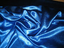 """Royal Blue Stretch Crepe Back Satin Fabric 52"""" Wide Sold By The Yard"""