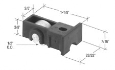 "1/2"" Flat Steel Sliding Window Roller with 23/32"" Wide Housing"