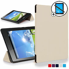 White Smart Case Cover Shell for Acer Iconia One 7 B1-780 Screen Prot Stylus