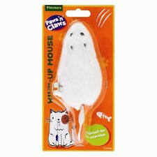 WIND UP MOUSE MICE CAT TOY/ PRACTICAL JOKE GREY, WHITE AND BLACK