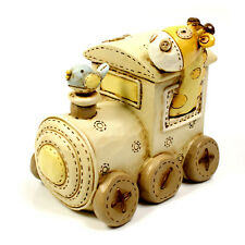 Baby Noah's Ark Resin Money Box - Train Gift CG232