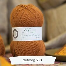 Wool WYS West Yorkshire Spinners 4 Ply Nutmeg 630 Signature Blue Faced Leicester