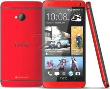 "New HTC One M7 Unlocked 4.7"" Quad-core Android OS Smart Phone 32GB 4MP Red Color"