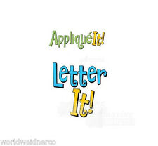 Amazing Designs LETTER IT! & APPLIQUE IT! Embroidery Machine Software Combo