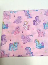 """My Little Pony Pink Fabric 2004 Hasbro 1.5 Yards x 44"""" MLP Novelty Sewing Craft"""