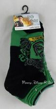New Harry Potter House of Slytherin Snake Designs No-Show Socks 5 Pair Low Cut