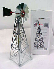 G-SCALE ALL METAL GALVANIZED WINDMILL KIT 17 INCHES TALL EASY TO ASSEMBLE, SPINS