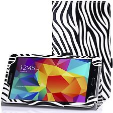 "Zebra Print Pattern Leather Stand Case for Samsung Galaxy Tab 4 7.0 7"" T230 T231"