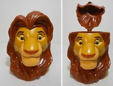 2000 Disney On Ice Lion King SIMBA SOUVENIR STEIN Hinged Character Drink Mug Cup