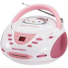 Sanrio Hello Kitty Stereo CD Boombox with AM/FM Radio LED Display KT2024A Aux