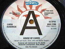 "LINDA KENDRICK - HOUSE OF CARDS  7"" VINYL PROMO"