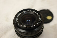 Vivitar Japan 28mm f/2.8 MC close focus wide angle lens for Pentax K PK SLR DSLR