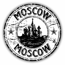 "Saint Basil's Moscow Grunge Russia Stamp Travel Car Bumper Sticker Decal 5"" x 5"""