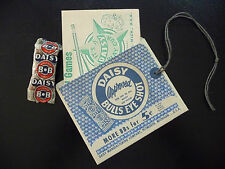 Daisy BB Gun Hang Tag Envelope,Red Ryder Play Gun Catalog, BB pack - 1950 Repro